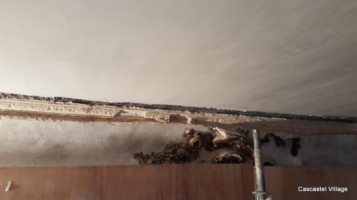 Le plâtrage des plafonds se termine