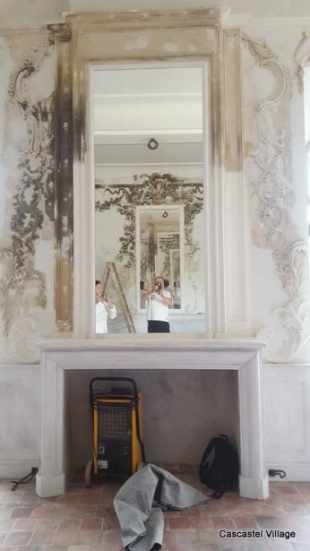 Le miroir de la cheminée