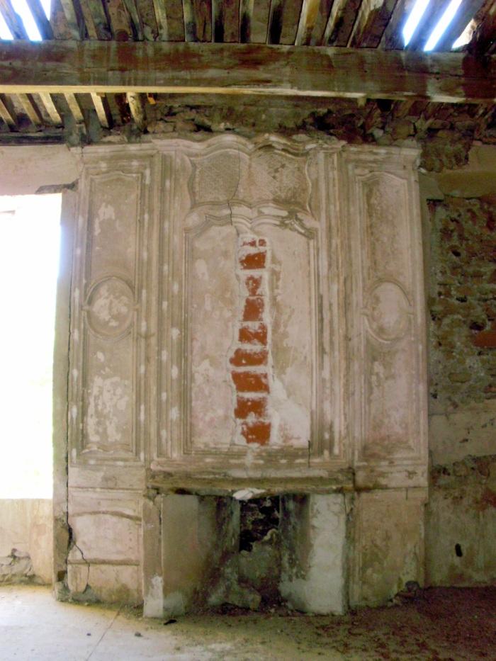 La cheminée de l'appartement du 1er étage