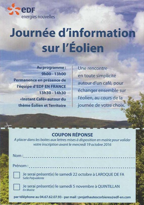 EDF-EN Journée d'Information sur l'éolien