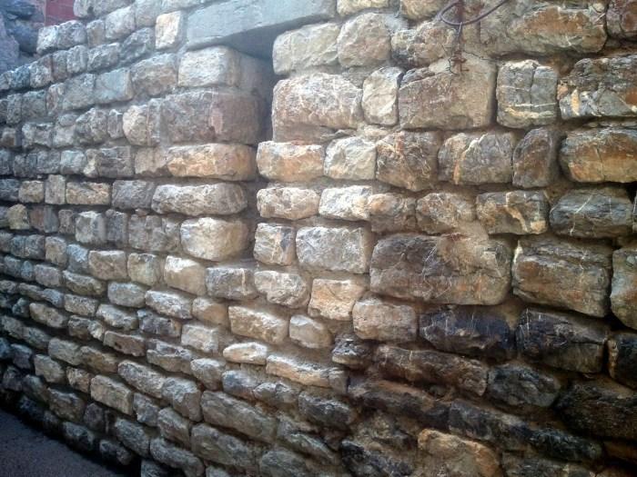 Mur 1390 restauré Amicale Laïque 2014