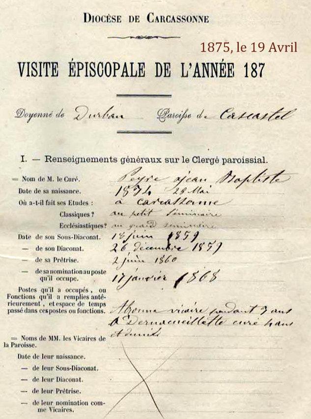 Abbé Jean Baptiste Peyre