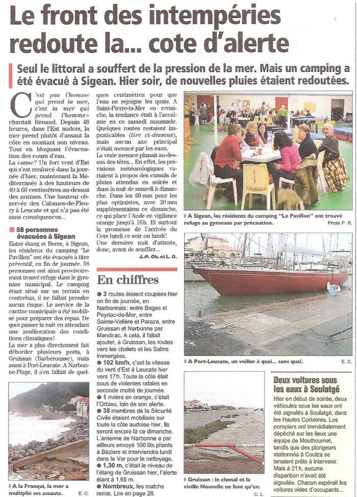 Côte d'alerte, Décembre 2014