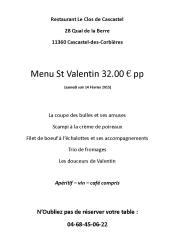 2015-02-07-Menu St Valentin 14 fevrier 2015