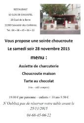 Soirée Choucroute le Samedi 28 Novembre 2015 chez Ria & Koën