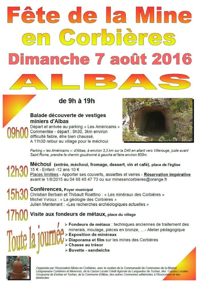 Fête de la Mine en Corbières 2016