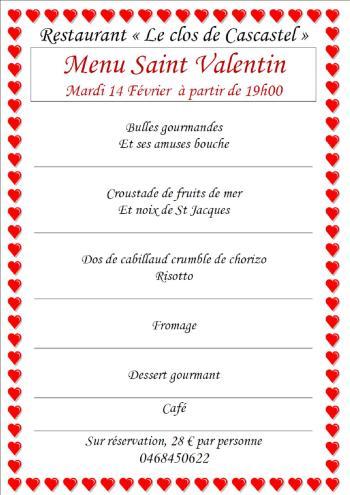 Saint Valentin 2017 Clos de Cascastel