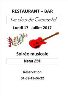 soirée Musicale Clos de Cascastel