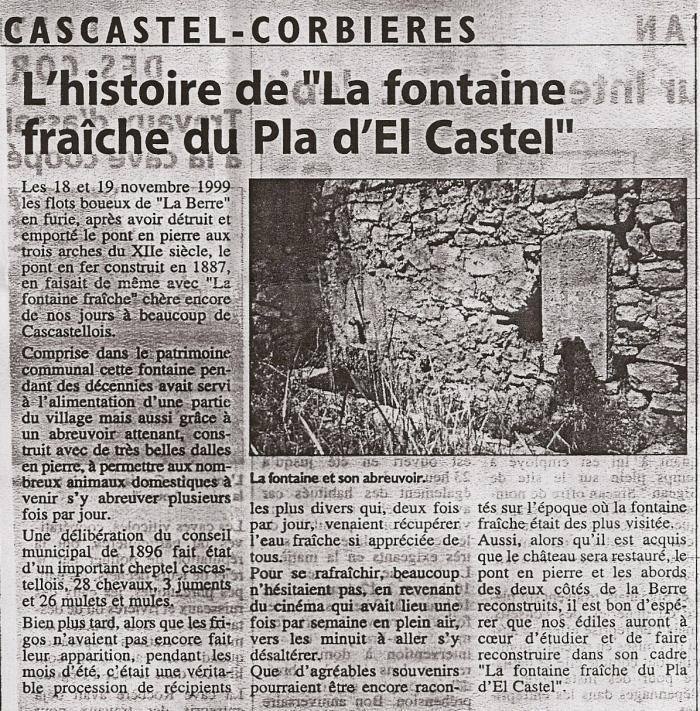 Fontaine fraîche, par Antoine Villa, 10 Février 2002