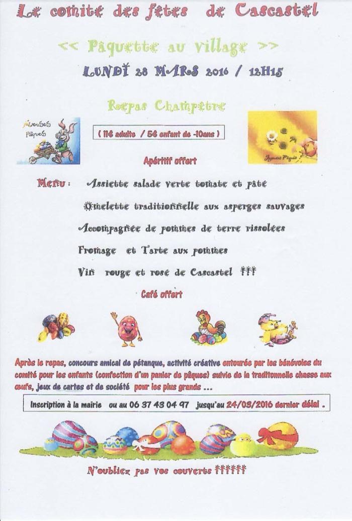 lundi 28 Mars 2016, Paquettes au Village