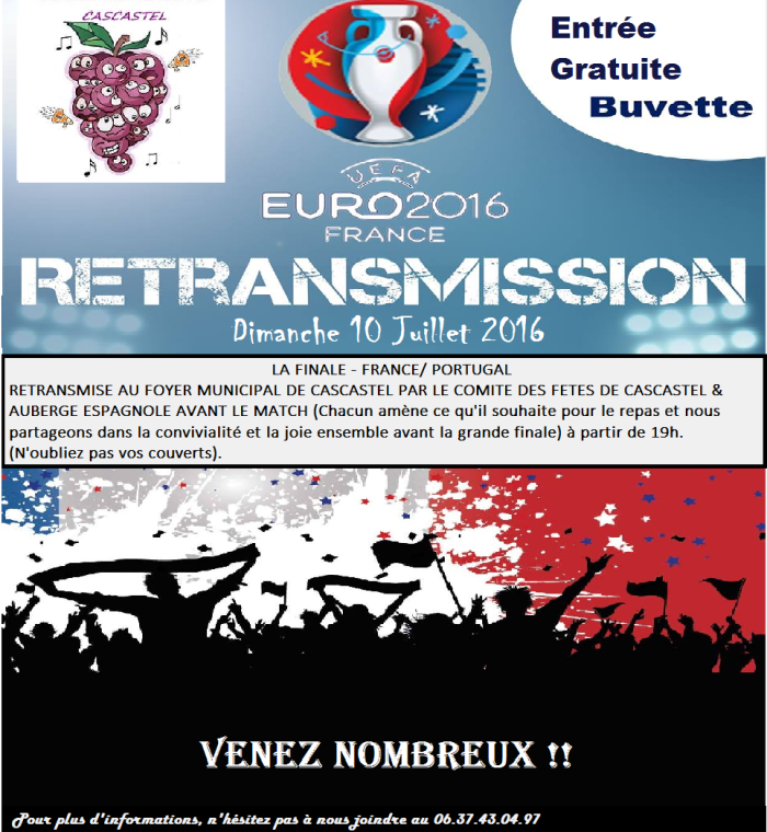 2016-07-08-Affiche pour retransmission finale france portugal 1