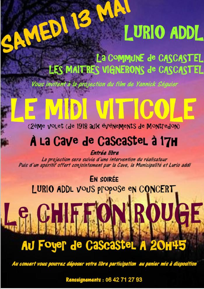 Samedi 13 Mai 2017 Cascastel, Midi Viticole2 & Chiffon Rouge