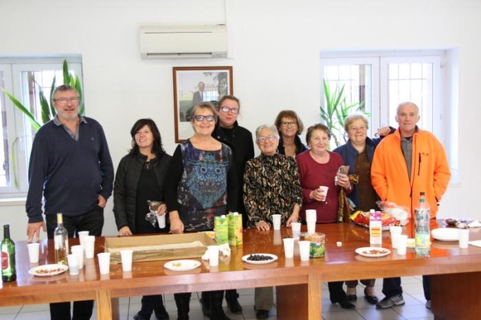 Samedi 3 Décembre 2016, Accueil du Téléthon à la Mairie de Cascastel