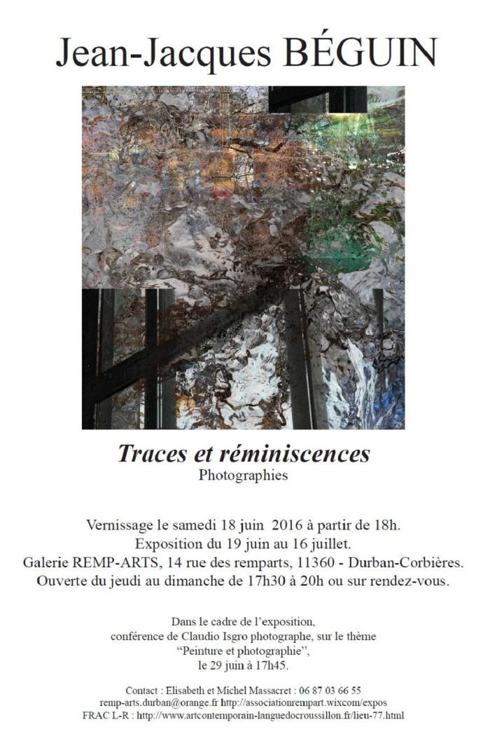 Traces et réminiscences, Photographies
