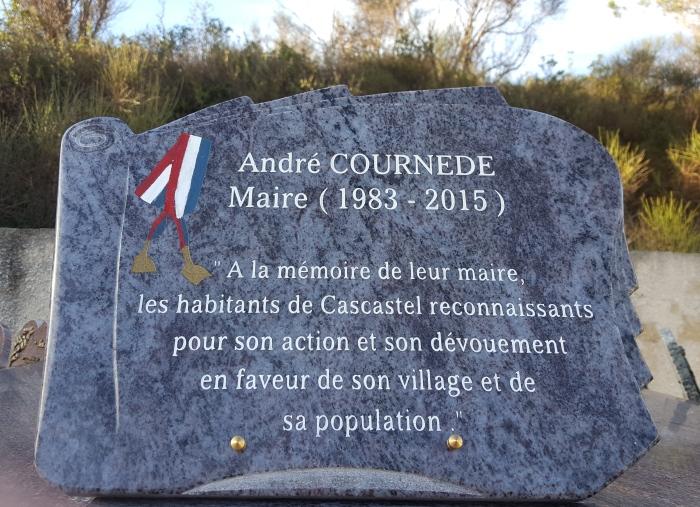 Mercredi 21 Décembre 2016, Plaque André Cournède