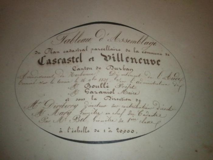 Cadastre 1835, Gazaniol, Maire
