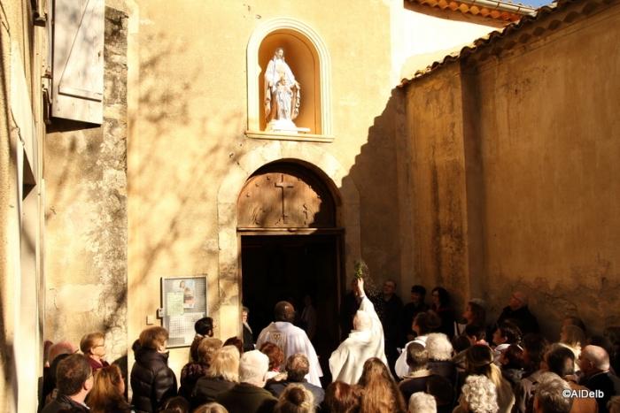 Dimanche 1er Avril 2018, Bénédiction ND du Portail par le Père Louis
