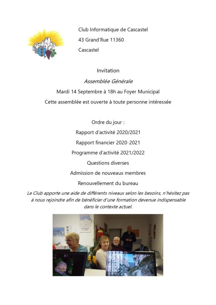 2021-09-07-Invitation-Club Informatique de Cascastel